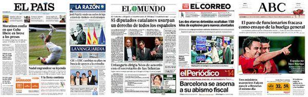 Article d'un journal espagnol.