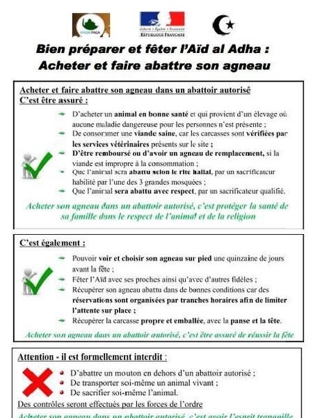 Document officialisé par la RF