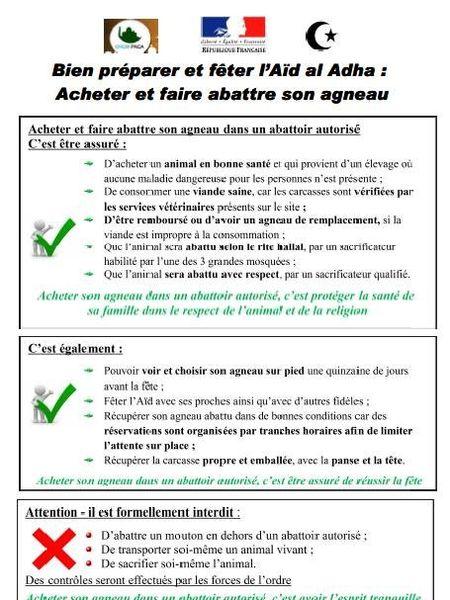 Document officialisé par la RF
