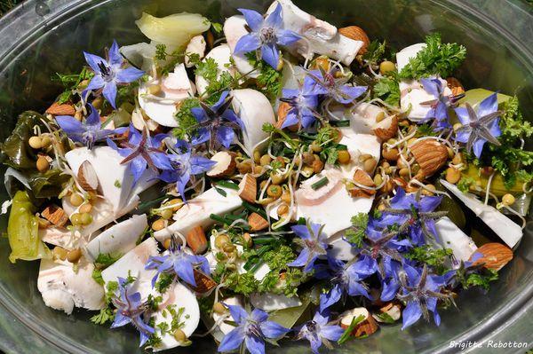 Salade fleurie....
