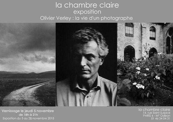 La vie d'un photographe, exposition à la Chambre Claire