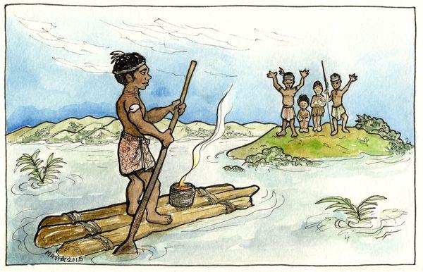 Iraa, le guerrier Kanak de la région de Burhai