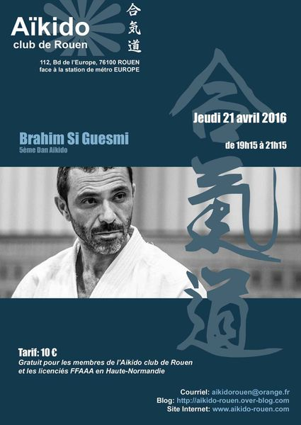 Rappel stage Brahim Si Guesmi jeudi 21 avril