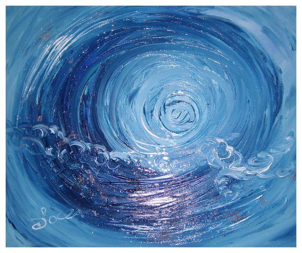 INDIGO-Huile sur toile/oil on canvas