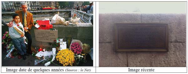 ALCAEE demande a Francois Hollande le remplacement de la plaque commémorative des événements du 17 octobre 1961 par une stèle