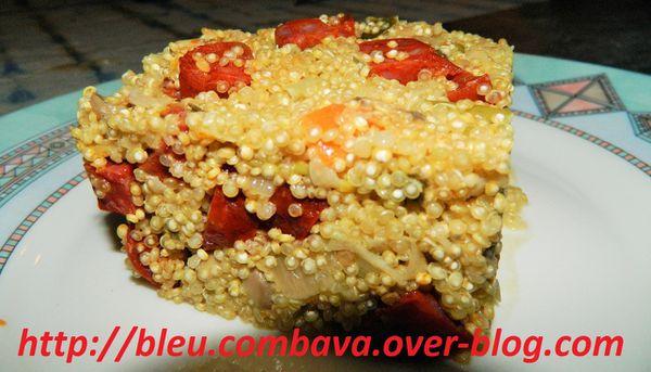 Risotto de Quinoa au Chorizo et aux Légumes