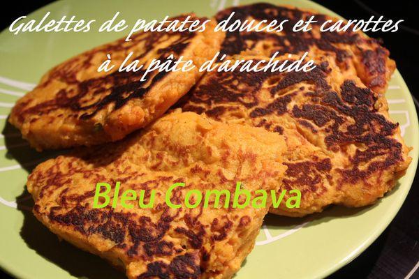 Galettes de Patates Douces à la Farine de Pois Chiches et à la Dakatine (pâte d'arachide)