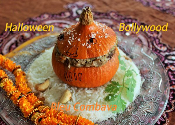 Potimarrons farcis, Agneau à l'indienne ou Hallowen Bollywood