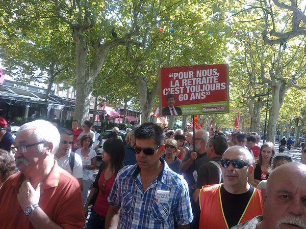 Le parti de Gauche Drôme répondait présent le 10/09