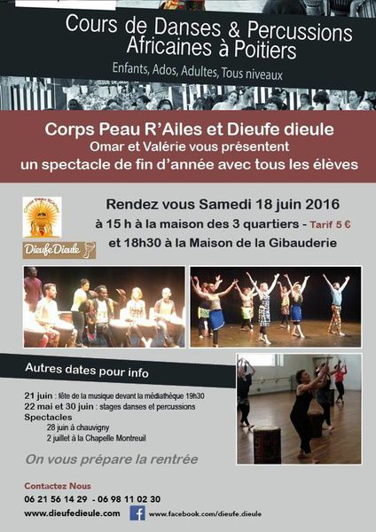 Danses et Percussions africaines Poitiers