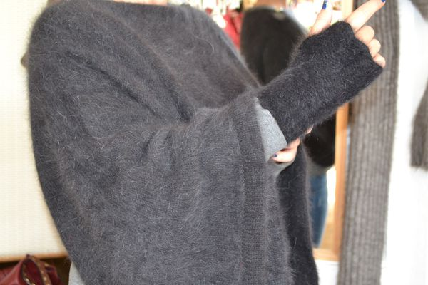 Pull tube 100% angora Naturel