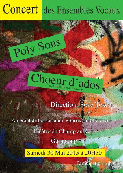 30 mai à Guingamp: Concert solidaire au profit de Barrez la Différence