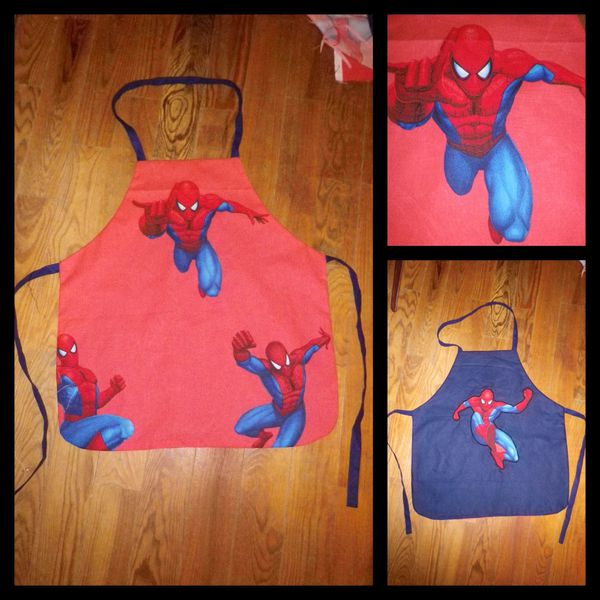 Tablier reversible Spiderman + patron