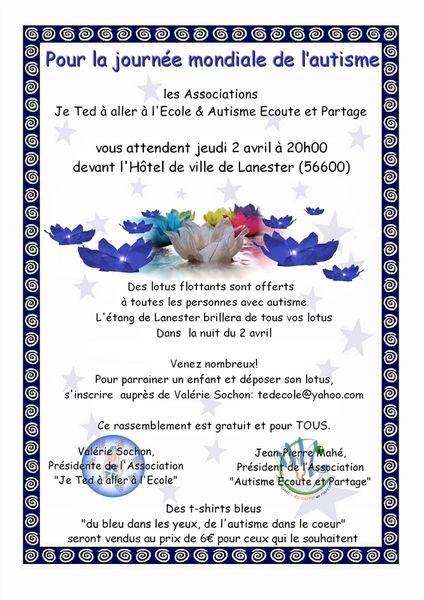 Des Lotus pour les enfants autistes de Lannester