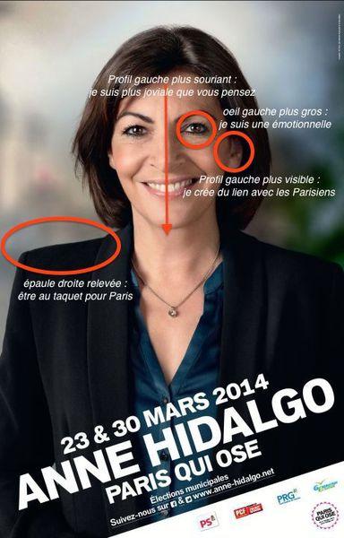 [Municipales] Affiche Hidalgo : à Paris, sang chaud pensa à sourire