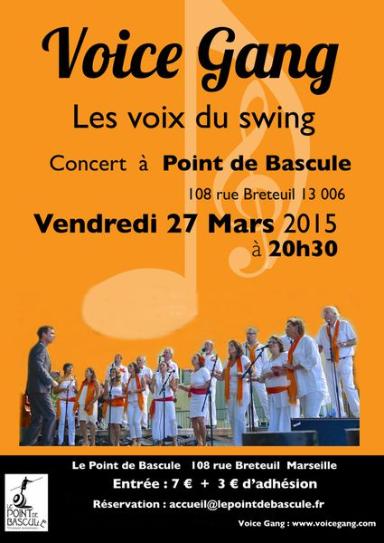 concert vendredi 27 mars à Marseille , au Point de Bascule , à 20h30