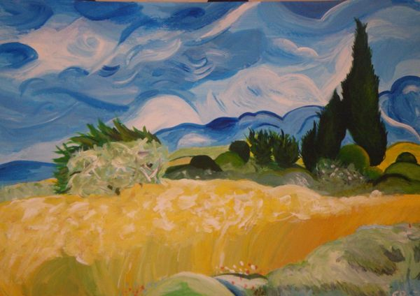 Van Gogh à la peinture acrylique