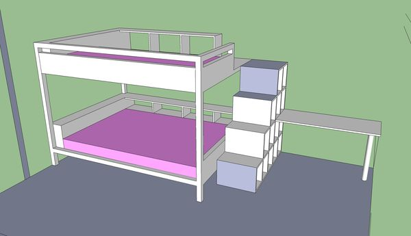 le lit mezzanine g ant atelier alex design. Black Bedroom Furniture Sets. Home Design Ideas