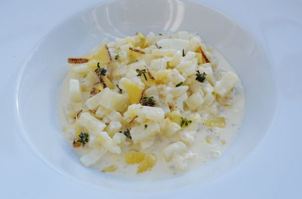 Celeri en risotto, thym, vieux comté (Inpiration Sulpice)