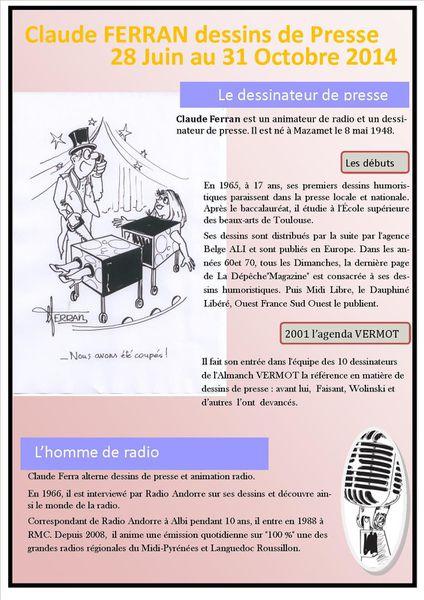 Claude FERRAN Dessins de presse