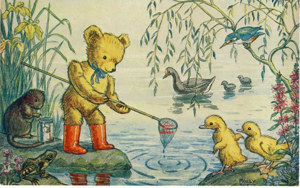 Iris -2167- BRETT Molly : &quot&#x3B;Caught a  tadpole, Teddy ?&quot&#x3B; Grande Bretagne.