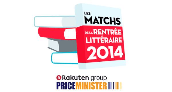 Les matchs de la Rentrée Littéraire 2014 PriceMinister-Rakuten