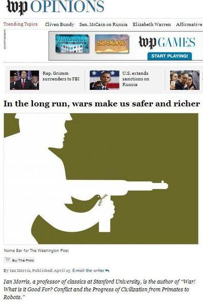 «La guerre c'est la paix, elle nous enrichit et accroît notre sécurité»…selon les médias dominants (Mondialisation.ca)
