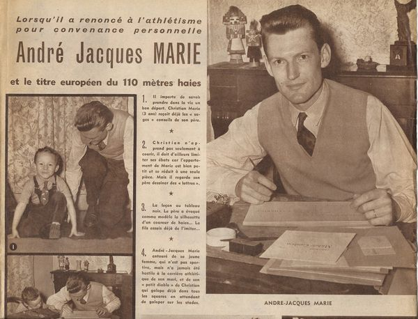 André-Jacques Marie, champion d'Europe 1950 110 mètres haies