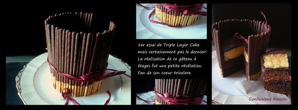 Triple layer cake 100% choco