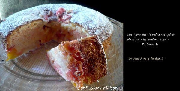 Gâteau lyonnais aux pralines roses