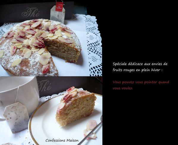 Gâteau moelleux parfum Thé aux fruits rouges