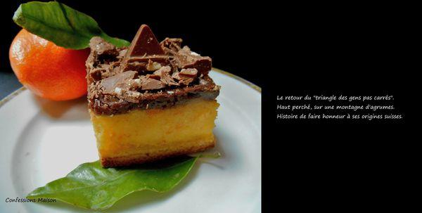 Tartelette clémentine &amp&#x3B; Toblerone