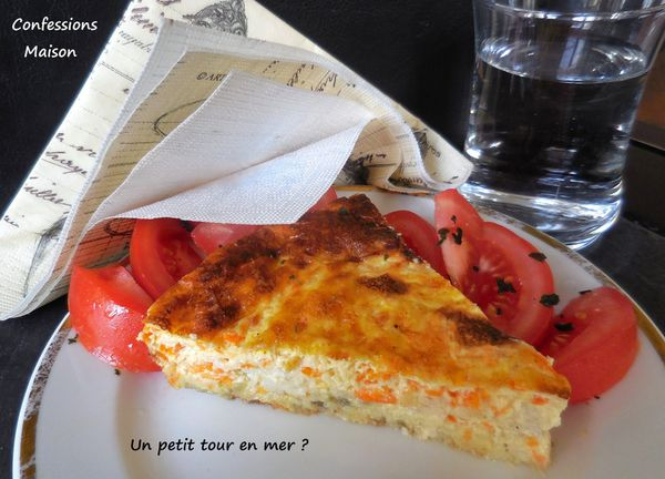 Quiche sans pâte Filet de julienne, Carottes &amp&#x3B; Curry
