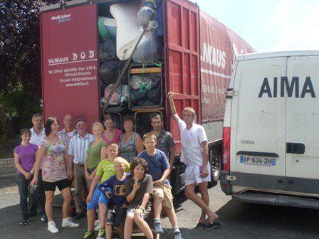 Le 43ème camion d'AIMA part pour Gaujienas, en Lettonie
