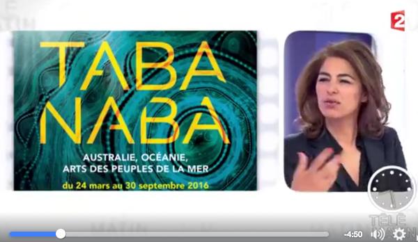 Revoir le reportage de Télématin sur les arts aborigènes et TABA NABA à Monaco