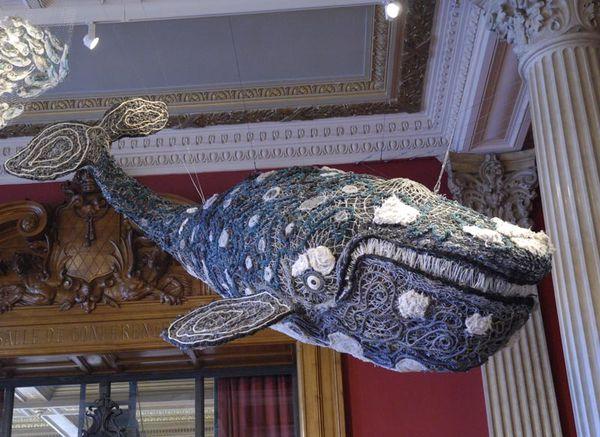 TABA NABA : Jidirah la baleine, une sculpture en ghostnet à Monaco