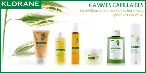 gamme klorane cheveux