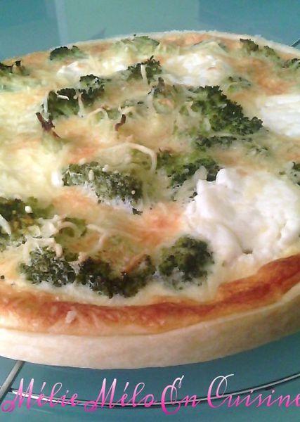 tarte au brocolis et chèvre ( avec ou sans thermomix )