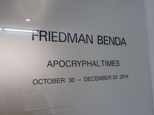 Galerie Friedman Benda à New York avec Julien Salaud
