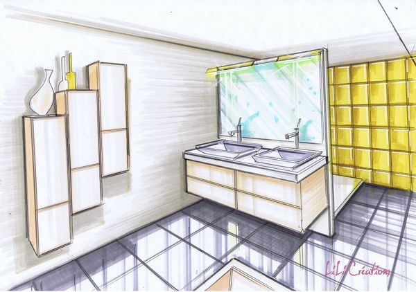 Le blog de elise fossoux d coration architecture d 39 int rieur dessin design am nagement for Chambre jaune et blanche