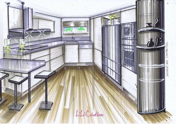 Aménager une cuisine en couloir