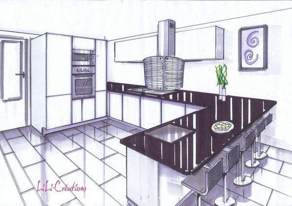 amazing cuisine dessin apprendre dessiner cuisine blog de elise with comment dessiner une cuisine. Black Bedroom Furniture Sets. Home Design Ideas
