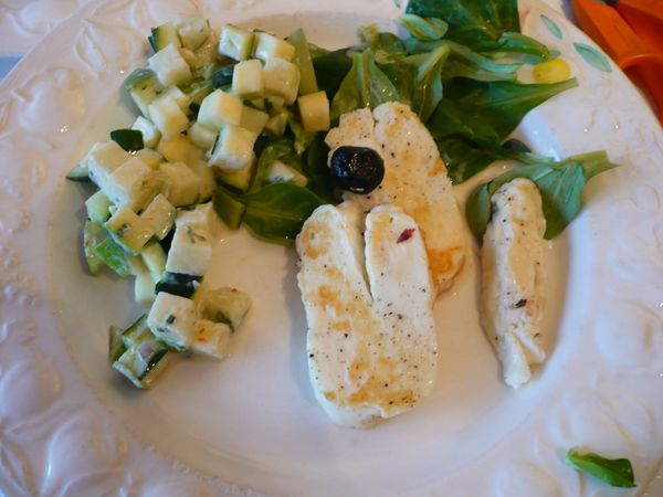 Salade toute verte ....sauce yaourt