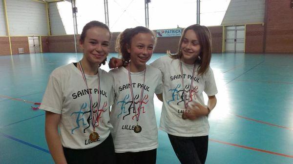Championnat régional UGSEL à Feignies et meeting d'Auby