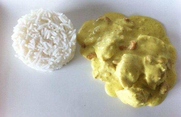 Poulet curry - noix de cajou
