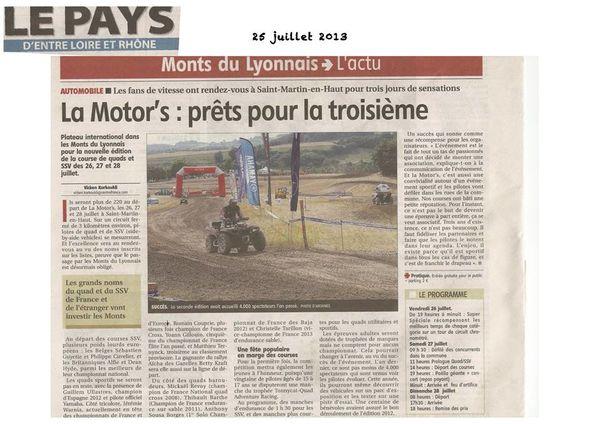 La Motor's 2014, nouvelle course au calendrier