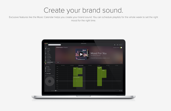 A savoir : Spotify lance son offre business avec &quot&#x3B;soundtrack your brand&quot&#x3B;