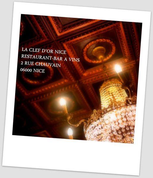 Mon coup de coeur Niçois: La Clef d'Or