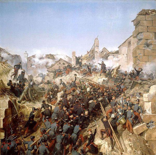 La prise de Constantine en 1837 (tableau d'Horace Vernet).