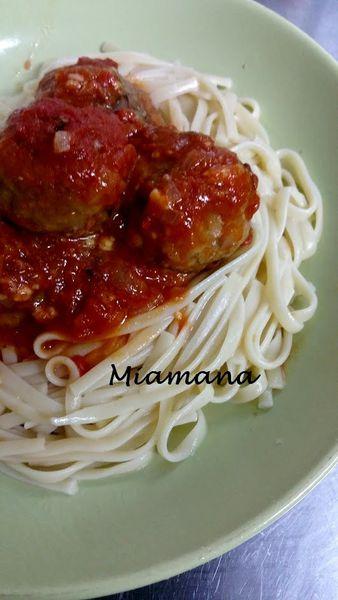 Spaghetti boulettes (surprise &#x3B;-) )